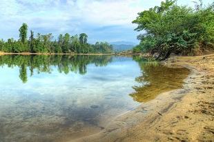 La rivière Sesan durant notre circuit Circuit les splendeur du Laos